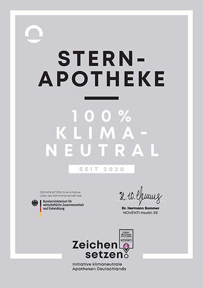 Stern-Apotheke Schwebheim erhält als erste in Bayern Klimaschutz-Emblem